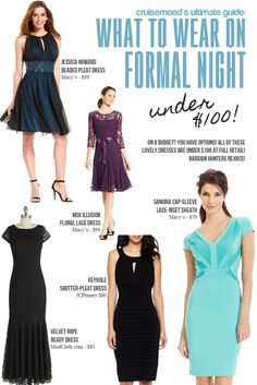 What to Wear on Formal Night  Classy Cocktail dresses and Cocktails