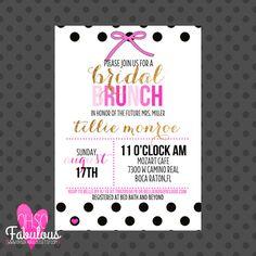 Glam Girl // Bridal Shower Brunch Invitation // PRINTABLE On Etsy, $12.20