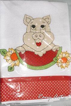 Valor referente à 10 PANOS DE PRATO VARIADOS!!  Panos de qualidade!!  Sacaria Santa Margarida - NÃO ENCOLHE!!    Bordados c/ Aplicação  pacote vai variado c/ bichinhos, frutas, flores, bonecas, bulinhos, e outros .