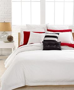 Lacoste Bedding, Solid White Brushed Twill Comforter and Duvet Cover Sets - Duvet Covers - Bed & Bath - Macy's    @Whitney Penn