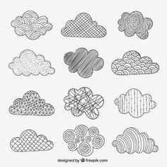 Sketchy Wolken in abstrakten Stil