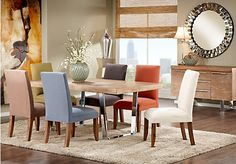 Cindy Crawford Home San Francisco Ash 5 Pc Dining Room With Curry Chairs