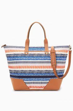 Multi Stripe Ikat Getaway Weekender Bag | Stella