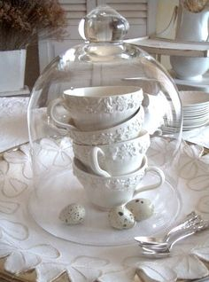 tea cups & cloche