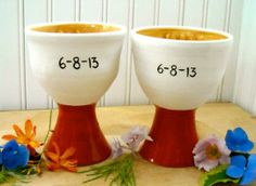 Personalized Custom Wedding, Anniversary Pottery Ceramic Goblets by Love Art Works | Hatch.co