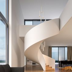 BEGA is a specialist in all questions of lighting and illumination technology - for outdoors and all areas of architecture. Staircase Architecture, Interior Staircase, Home Stairs Design, New Staircase, Home Interior Design, Interior Architecture, House Design, Staircases, Luxury Staircase
