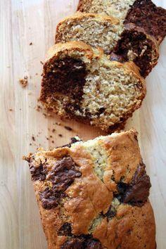 Dark Chocolate Swirled Banana Bread