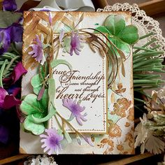 Cards For Friends, Friend Cards, Tim Holtz Dies, Arches Watercolor Paper, Altenew Cards, Gold Pen, Color Box, Distress Ink, Shades Of Purple