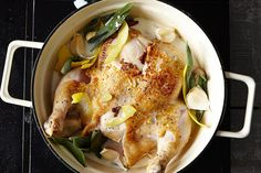 """JAMIE OLIVER'S ONE-POT CHICKEN in MILK -  """"...results in a messy, meaty, caramel pile of chicken that's had the resistance simmered straight out of it. It will make you stop talking and tear in, however unpolished it may look."""""""
