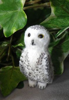 OOAK (One Of A Kind) Minatures & Dolls House Creations TreasuredByU Clay Sculpt Feathered Snowy Owl