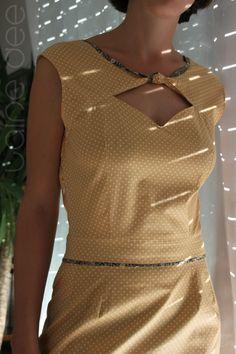 laine dee robe vintage pois 1