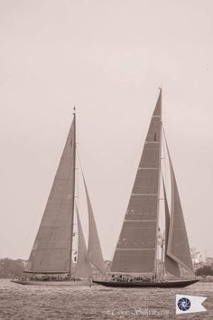 Ranger and Topaz, J Class designs for the 1930's America's Cup sailing in New York Harbor.