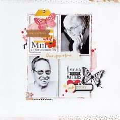 Gossamer Blue – October gallery: Scrapbook pages, gift tags