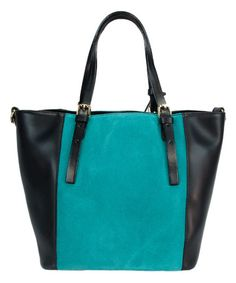 Look what I found on #zulily! Black & Turquoise Lala Leather Tote & Pouch by H&S Collection #zulilyfinds