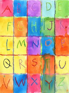 Watercolor Alphabet - might be a fun way to get letter formation in the portfolio???