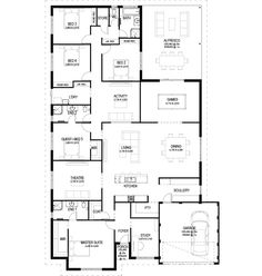 5-6 beds with multiple libing areas The Lawley floorplan by Commodore Homes Floorplan