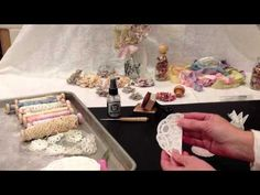 Shabby Chic Flower Tutorial - YouTube