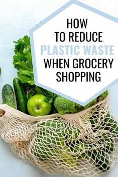 Plastic-free grocery shopping does not have to be expensive or difficult. Click to discover 6 ways to reduce plastic waste when you are grocery shopping. You can use these eco-friendly strategies in any store, no specialty stores required. Inexpensive and effective.