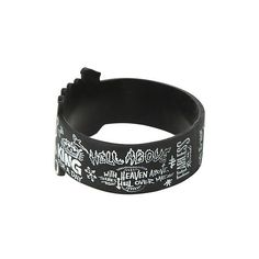 Pierce The Veil Die-Cut Drawings Rubber Bracelet   Hot Topic ($7) ❤ liked on Polyvore featuring jewelry, bracelets, rubber jewelry, white jewelry and rubber bangles