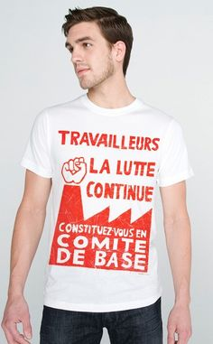 The Fight Continues Tshirt French MENS Tee by diatonic on Etsy, $20.00