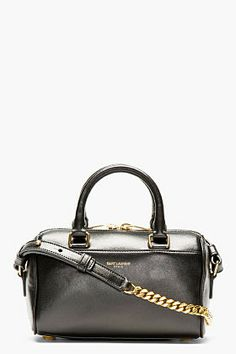 Saint Laurent Black Leather Toy Duffle Shoulder Bag | #Chic Only #Glamour Always