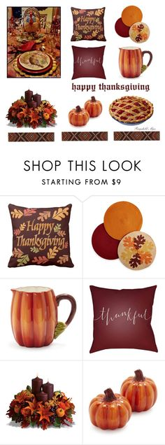 """Happy Thanksgiving"" by ragnh-mjos ❤ liked on Polyvore featuring interior, interiors, interior design, home, home decor, interior decorating, Homewear, Sur La Table and Surya"