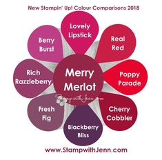 Comparing the new Stampin' Up! Colours | Stamp with Jenn