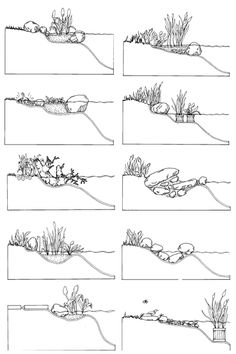 making a pond edge - Google Search