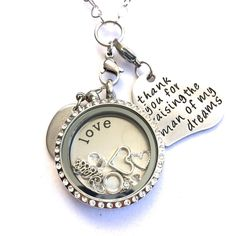 Large Stainless Steel Floating Charm Locket for Mother of the Groom #P2DreamLockets #Locket