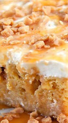 Caramel Apple Pie Poke Cake   Apple Dessert Recipe for Kids