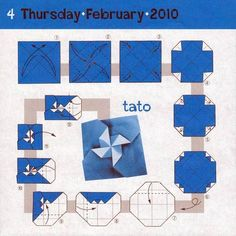 Instructions for origami tato.