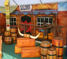 Wild west party ideas for adults. Hire corporate event theming for cowboy parties.