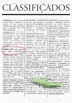 Illustration and Graphic design for a poem: VivaPoesia: Cometalinguagem (últimos e primeiros)