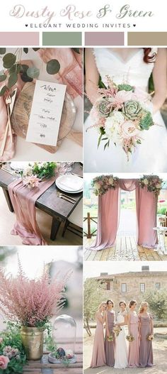 dusty rose pink and green romantic wedding color inspiration Find your decor inspo at www.pinterest.com/laurenweds/wedding-decor?utm_content=bufferbfeb0&utm_medium=social&utm_source=pinterest.com&utm_campaign=buffer