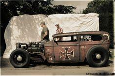 Portrait Hot Rod Hayride - Hendrickx Ford 32 tudor