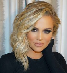 awesome Sexy Hairstyle from Khloe Kardashian