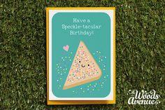 Speckle-tacular Birthday Card, Party, Cute, Silly, Quirky, Funny, Food Pun, Friend, Girlfriend, Boyfriend, BFF