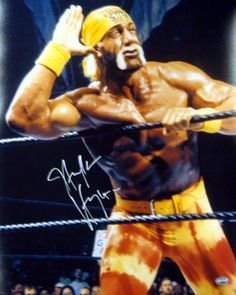 This is a 16x20 photo that has been hand signed by Hulk Hogan. The autograph has been certified authentic by PSA/DNA and comes with their sticker and matching certificate of authenticity.