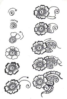 Mehndi flowers to do if I have extra space left More