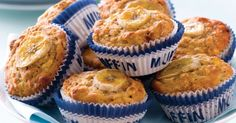 Make healthier snack choices with oven-baked treats, like these banana and oat muffins.
