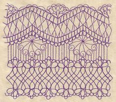 Delicate Lacy Border | Urban Threads: Unique and Awesome Embroidery Designs