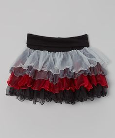 Take a look at this Black & Red Ruffle Skirt - Infant, Toddler & Girls on zulily today!