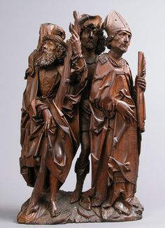 Attributed to Tilman Riemenschneider, Limewood Carving of Saints Christopher, Eustace, and Erasmus, German, c. 1500 - 1505