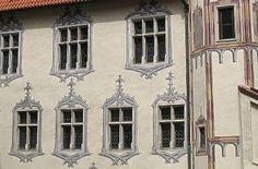 Spätgotische Illusionsmalerei am Hohen Schloss in Füssen