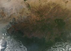 Heat signatures from fires in central Africa