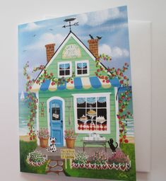 Sweetie Pie Bakery Blank Card with Envelope Artwork by KimsCottageArt