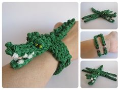Loombicious 3D crocodile bracelet Rainbow Loom - YouTube