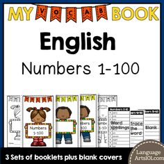 This is a flexible vocabulary booklet to cut out and use to write and learn the numbers 1-100 in English. It can be used as a dictionary of numbers 1-100 with the sheets where the words are spelled…