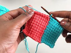 How to Join As You Go in Tunisian Crochet - TL Yarn Crafts TL Yarn Crafts – You searched for tunisian – TL Yarn Crafts Joining Yarn Crochet, Crochet Yarn, Crochet Hooks, Crochet Granny, Crochet Afghans, Crochet Slippers, Easy Crochet, Tunisian Crochet Patterns, Crochet Patterns For Beginners