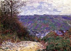 Path at Giverny // Claude Oscar Monet // 1885 // Painting - oil on canvas // Height: 60.01 cm (23.63 in.), Width: 80.96 cm (31.88 in.) // Private collection